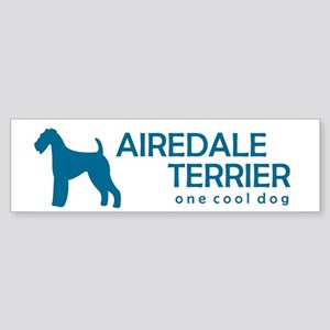 """Airedale Terrier """"One Cool Dog"""" Bumper Sticker"""