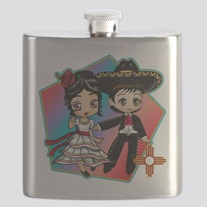 FIESTA DANCERS Flask