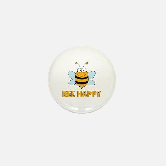 Bee Happy Mini Button
