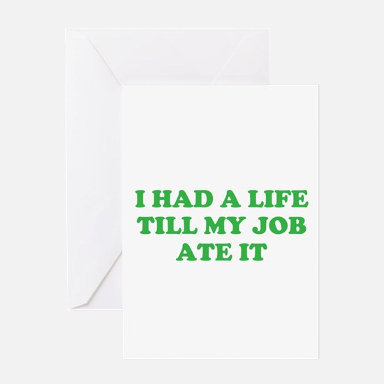 had a life merchandise Greeting Card