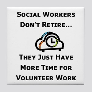 Social Work Retirement Tile Coaster