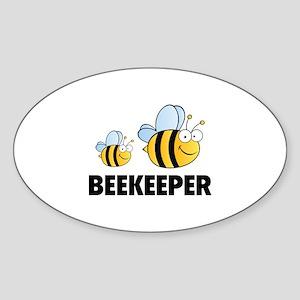 Beekeeper Sticker (Oval)