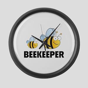 Beekeeper Large Wall Clock