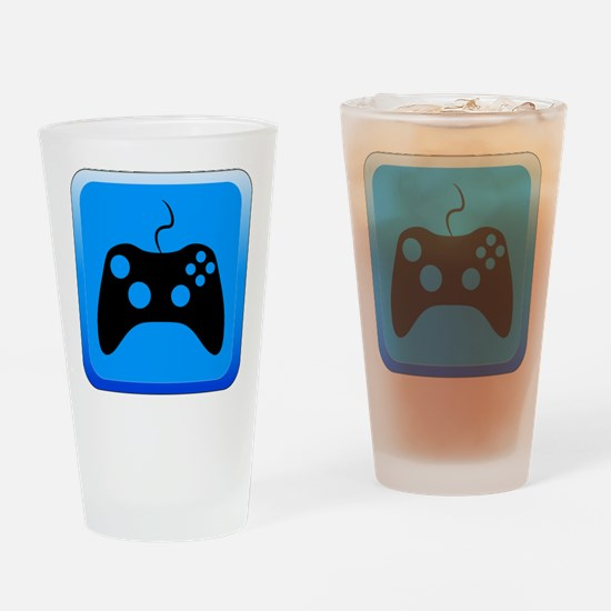 Play Icon Drinking Glass