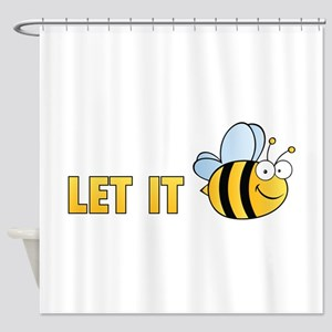 Let It Bee Shower Curtain