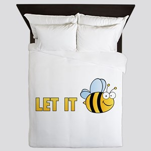 Let It Bee Queen Duvet
