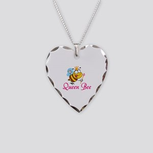 Queen Bee Necklace Heart Charm