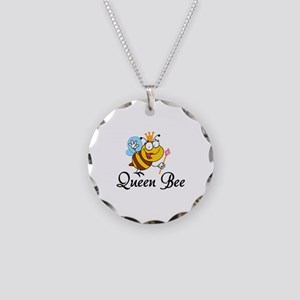 Queen Bee Necklace Circle Charm