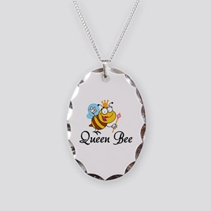 Queen Bee Necklace Oval Charm