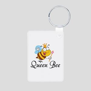 Queen Bee Aluminum Photo Keychain