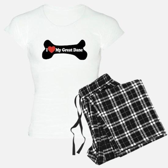 I Love My Great Dane - Dog Bone Pajamas