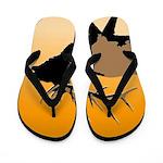 Sunset Bugling Elk Flip Flops