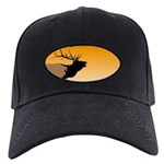 Sunset Bugling Elk Black Cap with Patch