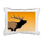 Sunset Bugling Elk Rectangular Canvas Pillow