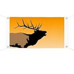 Sunset Bugling Elk Banner