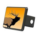 Sunset Bugling Elk Rectangular Hitch Cover