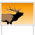 Sunset Bugling Elk Yard Sign
