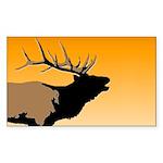 Sunset Bugling Elk Sticker (Rectangle)