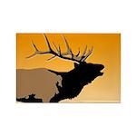 Sunset Bugling Elk Rectangle Magnet (100 pack)