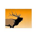 Sunset Bugling Elk 5'x7'Area Rug