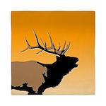 Sunset Bugling Elk Queen Duvet