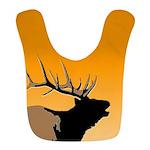 Sunset Bugling Elk Polyester Baby Bib