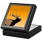 Sunset Bugling Elk Keepsake Box