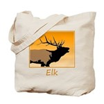 Sunset Bugling Elk Tote Bag