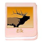 Sunset Bugling Elk baby blanket