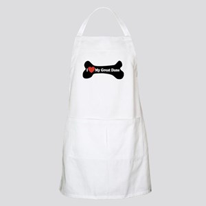 I Love My Great Dane - Dog Bone Apron