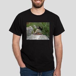 Musician Spiny the Lizard Dark T-Shirt