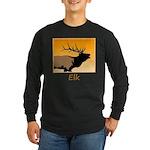 Sunset Bugling Elk Long Sleeve Dark T-Shirt