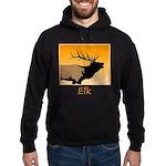 Sunset Bugling Elk Hoodie (dark)