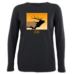 Sunset Bugling Elk Plus Size Long Sleeve Tee