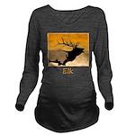 Sunset Bugling Elk Long Sleeve Maternity T-Shirt
