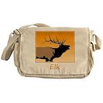 Sunset Bugling Elk Messenger Bag