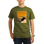 Sunset Bugling Elk Organic Men's T-Shirt (dark)
