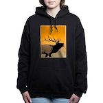 Sunset Bugling Elk Women's Hooded Sweatshirt