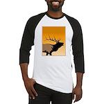 Sunset Bugling Elk Baseball Tee