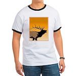 Sunset Bugling Elk Ringer T