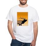 Sunset Bugling Elk White T-Shirt
