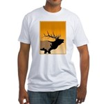 Sunset Bugling Elk Fitted T-Shirt
