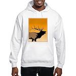 Sunset Bugling Elk Hooded Sweatshirt