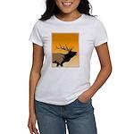 Sunset Bugling Elk Women's Classic White T-Shirt