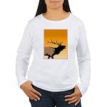 Sunset Bugling Elk Women's Long Sleeve T-Shirt