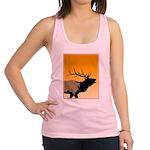 Sunset Bugling Elk Racerback Tank Top