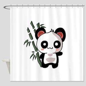 Panda Bambu Shower Curtain