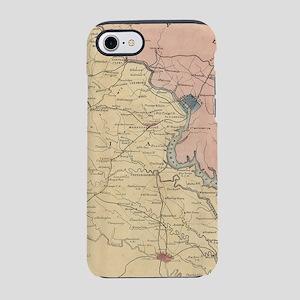 Vintage Map of The Virginia Ba iPhone 7 Tough Case