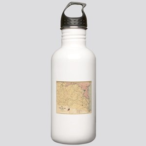 Vintage Map of The Vir Stainless Water Bottle 1.0L