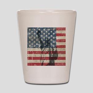 Vintage Statue Of Liberty Shot Glass